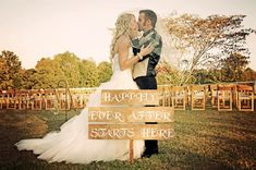 Happily Ever After Starts Here Customized Wedding Sign - Shabby Chic Rustic Style Wedding - Wedding Decoration - Rustic Wedding Signage on Etsy, $50.00