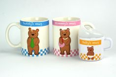 Bear Family Mugs - Set of 3