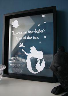 Diy paper Little mermaid frame