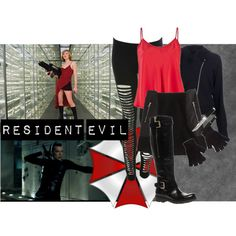 Resident Evil Set v. 2, created by thebrokenword on Polyvore