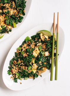 Spicy Kale and Coconut Stir Fry - Cookie and Kate