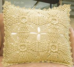 38 (603x549, 87Kb)  Free (graphed) crochet pillow pattern.  Lovely.