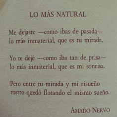 Lo más natural... amado nervo
