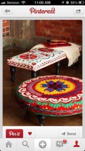 IMG_8748 coffee tables, idea, color, diy tutorial, foot stools, textil, homes, ottoman, bohemian