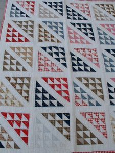 Ebay quilt - flying geese variation