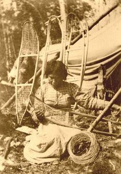 Native American Indian Women | VintageWinter - Antique Native American Indian Snowshoes