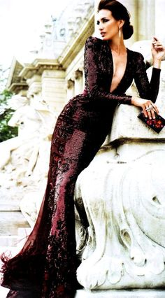 ZUHAIR MURAD SPRING 2013 #Gorgeous #Gown #Stunning #Purple #Dress #Beautiful #Glamour #Love #Sexy #Sophisticated #Sparkle #Sequin #Classy #Chic #Makeup #Long #Hair #Curls #Brunette