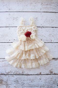 flower girl dress, lace ivory flower girl dresses, baby lace dress, toddler girls dress, dress with sash, rustic girls wedding dress, shabby on Etsy, $50.00