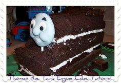 Thomas the Tank Engine Cake Tutorial - very in depth with LOTS of pictures