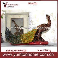 Resin Peacock Home Decor Figurine Photo photo 2/4