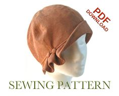 SEWING PATTERN - Madeline, 1920s Cloche Hat for Child or Adult