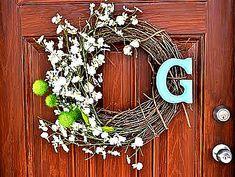 green doors, idea, front door wreaths, front doors, spring wreaths