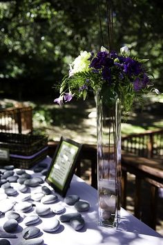 wishing stones instead of a traditional guestbook