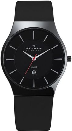 I actually have a #Skagen very similar to this. Really like Skagen #Watches - 233xlclb Skagen Black Mens Watch