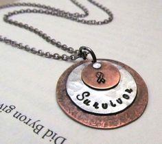 SURVIVOR Breast Cancer Necklace  Breast by FiredUpLadiesHammer, $29.00