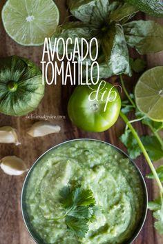 Spicy Avocado-Tomatillo Dip - similar to guacamole