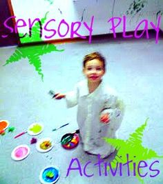 Ten EASY Sensory Play Activities. Repinned by SOS Inc. Resources.  Follow all our boards at http://pinterest.com/sostherapy  for therapy resources.