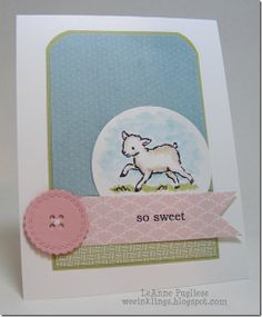 Stampin' Up! Baby  by LeAnne P at weeInklings