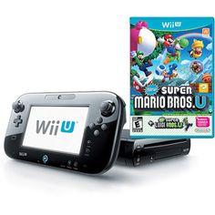 $299.00 Nintendo Wii U Deluxe Console Set, Black with New Super Mario Bros. U and New Super Luigi U