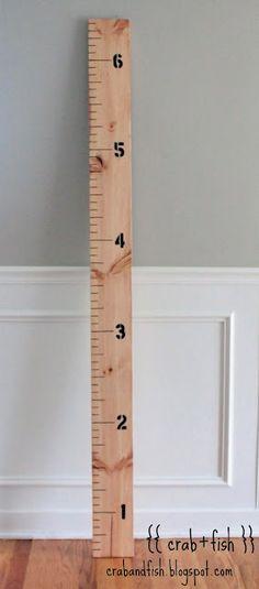 giant ruler growth chart ((diy))