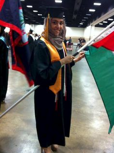 TEXAS: Palestinian student coerces high school into allowing her to carry an Islamic flag at her graduation - but some guy in hometown USA is being fined for flying a Betsy Ross Flag on his home. America is just getting stupider every day!