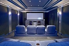 Small-Home-Theater-Design-With-Silver Screen