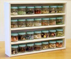 paint the lids of jars for a uniform storage solution