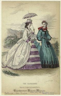 Fashion plate, 1863, Englishwoman's Domestic Magazine