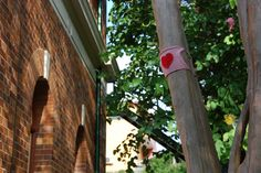 Spotted! Valentine's Day Yarnbomb http://wp.me/pjlln-2vz #ValentinesDay #yarnbomb #knit #knitting