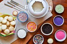 cupcak fondu, idea, cupcakes, birthday parties, birthdays, food, fondue party, dessert, kid