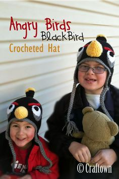 Try our free crochet pattern for an Angry Birds Black Bird Hat.  Find this and many more free crochet patterns at Craftown.