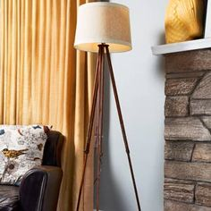 How to create your own industrial-style surveyor's lamp. We found our vintage tripod on ebay for $55. | Photo: Ian Spanier | thisoldhouse.com