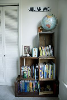 Old crate boxes now... a bookshelf