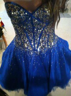 Blue short formal dress