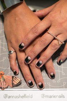 Nail art for a traditional bride.