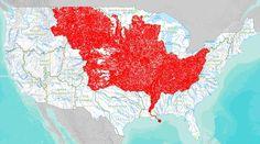 Mississippi drainage