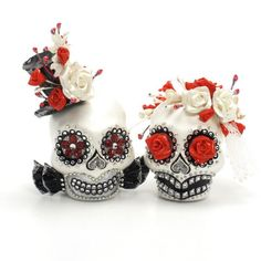Skull Wedding Cake Topper A00144