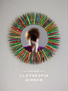 Aunt Peaches: Two Tone Clothespin Mirror