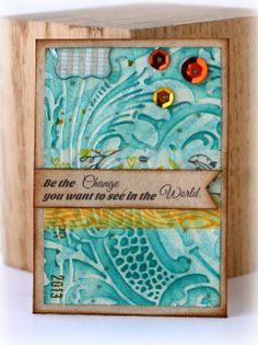 """""""Be the change you want to see in the world.""""  Li'l Buck's Creations: Fox Artist Trading Card ATC"""