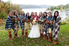 Bridesmaids In Blankets