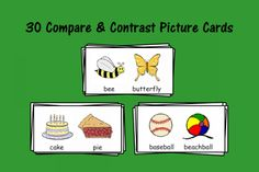 Compare and Contrast Picture Cards