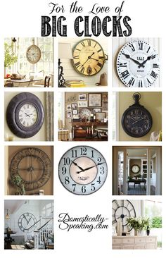 Clocks & Creative Wall Displays
