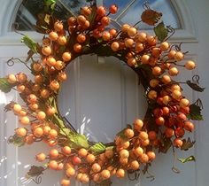 Mini Pomegranate Fall Door Wreath In Orange Wreaths For Door http://www.amazon.com/dp/B00MEKT9II/ref=cm_sw_r_pi_dp_sUp6tb1FS5N2A