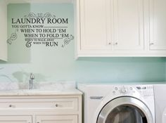 know when to hold them laundry room | l100 know when to hold em laundry room you gotta know when to hold ...