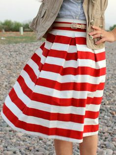 fashion, red, white, summer outfits, 4th of july, summer skirts, stripes, summer clothes, blues