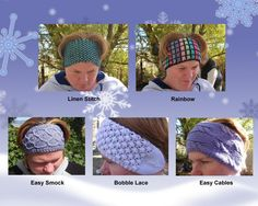 Looking for a knitting pattern for your next project? Look no further than 5 Easy Knit Ear Warmers knit hat from Copper Llama! - via @Craftsy