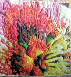 Textile Art Stitched Photograph Flower Free Shipping by artmixter, £45.00