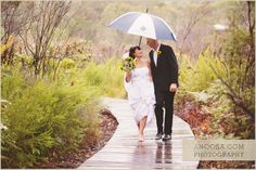 Rain didn't cast a dampener on Sam and Meg's big day.  #kingfisherbay #fraserisland #destinationwedding #fraserislandwedding #fraserwedding http://www.fraserislandweddings.com.au/