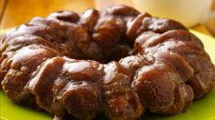 A twist on the classic monkey bread recipe--cream cheese-stuffed Pillsbury® crescent dough oozing with warm caramel and cinnamon.