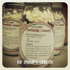 White Christmas Cookies {in a jar}